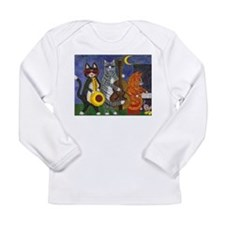 Jazz Cats at Night Long Sleeve Infant T-Shirt