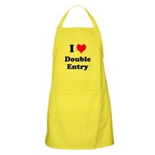 I Love Double Entry Cheeky Innuendo Apron