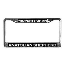 Property of Anatolian Shepherd License Plate Frame