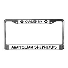 Owned by Anatolian Shepherds License Plate Frame