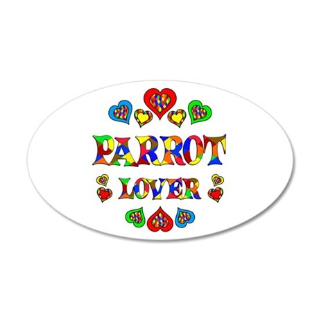 Parrot Lover 20x12 Oval Wall Decal