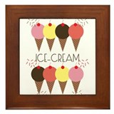 Ice Cream First Framed Tile