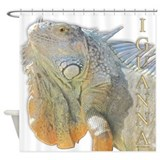 Golden Iguanna Shower Curtain