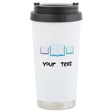 Personalized Books Reading Ceramic Travel Mug