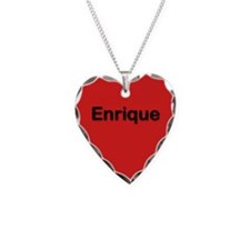 Enrique Red Heart Necklace Charm