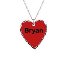 Bryan Red Heart Necklace Charm