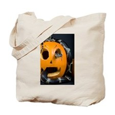 Black Snake in Pumpkin Tote Bag