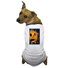 Black Snake in Pumpkin Dog T-Shirt