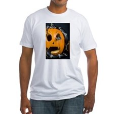 Black Snake in Pumpkin Fitted T-Shirt