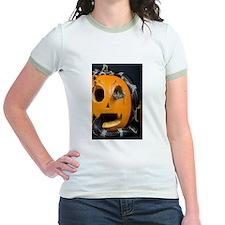 Black Snake in Pumpkin Jr. Ringer T-Shirt
