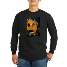 Black Snake in Pumpkin Long Sleeve Dark T-Shirt