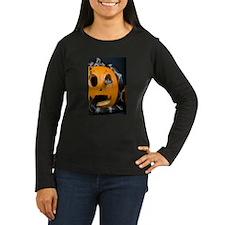 Black Snake in Pumpkin Women's Long Sleeve Dark T-