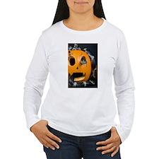 Black Snake in Pumpkin Women's Long Sleeve T-Shirt