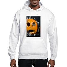 Black Snake in Pumpkin Hooded Sweatshirt