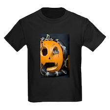 Black Snake in Pumpkin Kids Dark T-Shirt