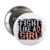Fight Like a Girl 31.8 Uterine Cancer Shirts 2.25""
