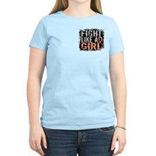 Fight Like a Girl 31.8 Uterine Cancer Shirts Women