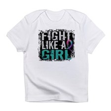 Fight Like a Girl 31.8 Thyroid Cancer Shirts Infan