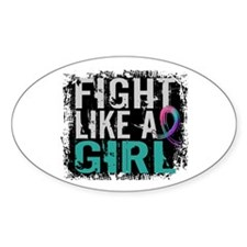 Fight Like a Girl 31.8 Thyroid Cancer Shirts Stick