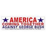America Coming Together Bumper Sticker