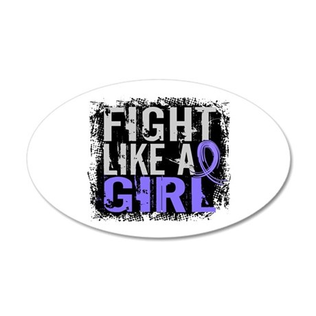 Fight Like a Girl 31.8 Stomach Cancer 20x12 Oval W
