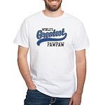 World's Greatest PawPaw White T-Shirt