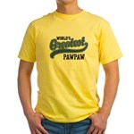 World's Greatest PawPaw Yellow T-Shirt