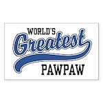 World's Greatest PawPaw Sticker (Rectangle)