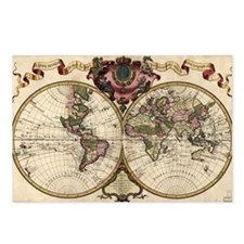 Map of the world, 1720 - Postcards