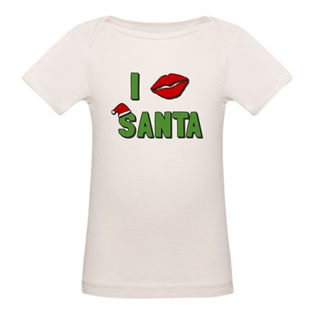 I Kissed Santa Organic Baby T-Shirt