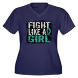 Fight Like a Girl 31.8 PKD Women's Plus Size V-Nec
