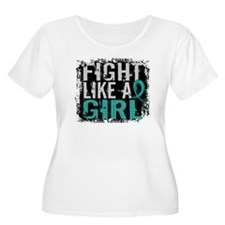 Fight Like a Girl 31.8 Ovarian Cancer T-Shirt