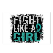 Fight Like a Girl 31.8 Ovarian Cancer Postcards (P