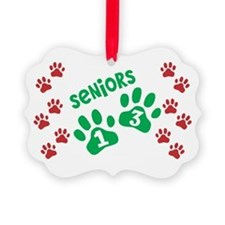 Christmas Paw Prints Seniors 2013 Ornament