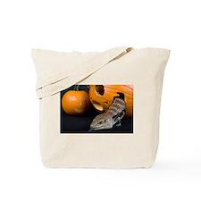 Lizard in Pumpkin Tote Bag