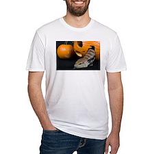 Lizard in Pumpkin Fitted T-Shirt
