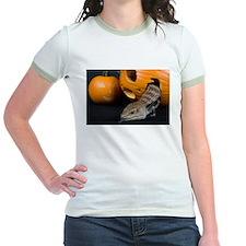 Lizard in Pumpkin Jr. Ringer T-Shirt