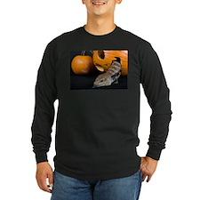 Lizard in Pumpkin Long Sleeve Dark T-Shirt