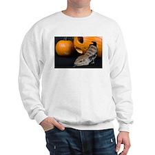 Lizard in Pumpkin Sweatshirt