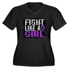 Fight Like a Girl 31.8 Lupus Women's Plus Size V-N