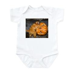 Tamarin With Pumpkin Infant Bodysuit