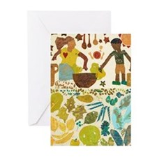 Community art - garden harvest Greeting Cards