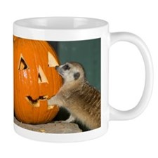Meerkat Reaching into Pumpkin Mug