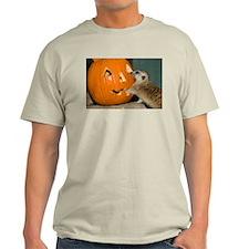 Meerkat Reaching into Pumpkin Light T-Shirt