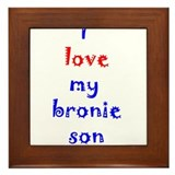 Bronie Son Framed Tile