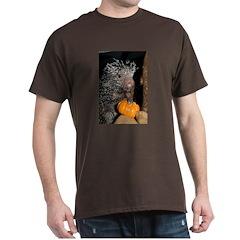 Porcupine Holding Mini Pumpkin Dark T-Shirt