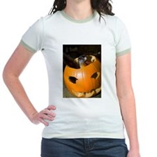 Squirrel in Pumpkin Jr. Ringer T-Shirt