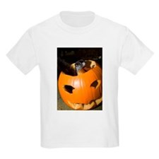 Squirrel in Pumpkin Kids Light T-Shirt
