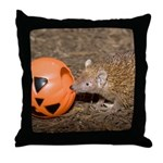 Lesser Tenrec with Pumpkin Throw Pillow