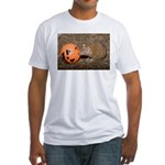 Lesser Tenrec with Pumpkin Fitted T-Shirt